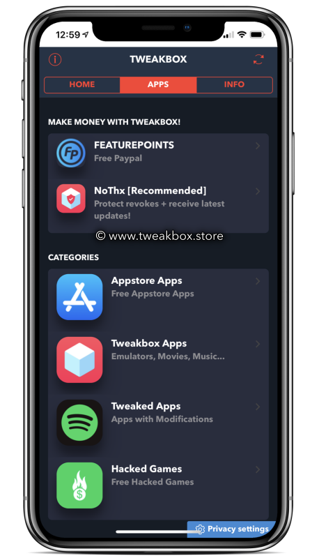 TweakBox App ( iOS and Android )