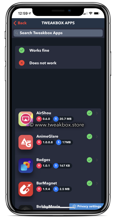 tweakbox apps