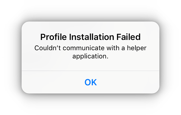 profile installation failed tweakbox