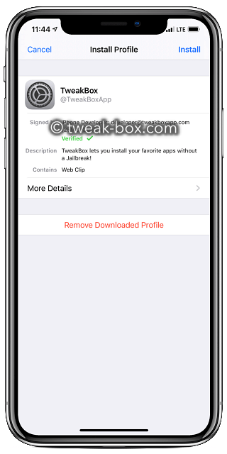 nstall tweakbox profile iOS 13