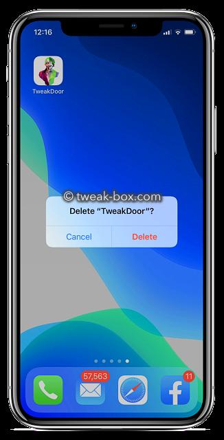 delete tweakdoor app
