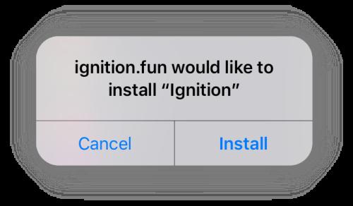 install ignition app