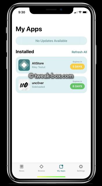 unc0ver jailbreak altstore app