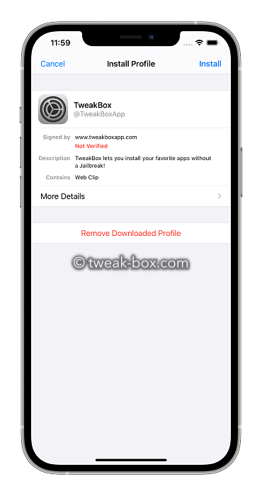tweakbox profile install