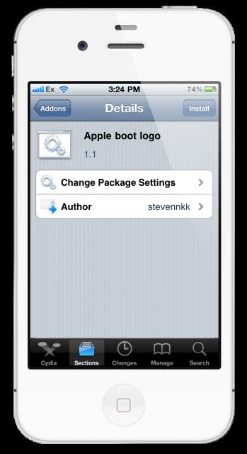 apple_boot_logo cydia tweak