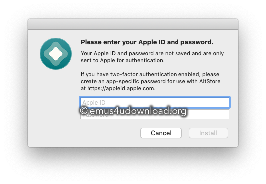 altstore enter your apple id app download