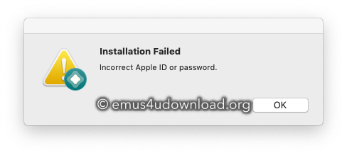 altstore installation failed. insvalid apple id or password
